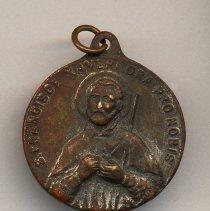Image of pendant 2, side 1: S. Francisce Xaveri Ora Pro Nobis
