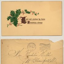 Image of Holiday greetings, 8, sent to Madeline and/or Florence Miller, 716 Bloomfield St., Hoboken from various people, v.d., ca. 1907-1972. - Documents