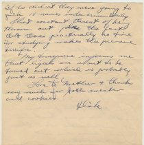 Image of Letter 1, side 2, Monday, Oct. 12, 1942