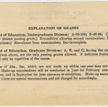 Image of back of grade report form
