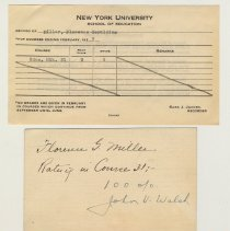 Image of grade report form; instructor's rating card; envelope