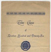 Image of Program: Our Lady of Grace Church, grammar school, Class of 1926 graduation, Hoboken, June 27, 1926 - Program