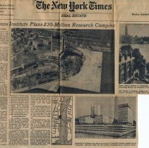 Image of Newsclipping: Stevens Institute Plans $20-Million Research Complex.  The New York Times,  Real Estate, Sect. 8, Sept. 10, 1967. - Documents