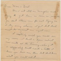 Image of Letter, Oct. 19, 1947, from Lt. George R. Maier, U.S.N.R., Memphis, Tenn., to his parents, Mr. & Mrs. George Maier, 833 Bloomfield St. - Letter