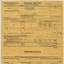 Image of document 4, front: July 29, 1947; Mileage Voucher