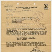 Image of Mileage Voucher submission with military separation documents for George R. Maier, 833 Bloomfield St., Hoboken, July 29, 1947. - Documents