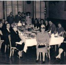 Image of Photo of wedding reception for Mr. & Mrs.Harold Grouls, Meyers Hotel, Hoboken, Dec.12, 1947. - Print, Photographic