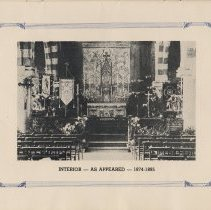 Image of pg [9] photo, rotated: Interior - As Appeared - 1874-1895 [church interior]
