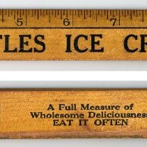 "Image of Wood ruler, 12"", advertising Castles Ice Cream, (Hoboken), no date, circa 1930-1950. - Ruler, Advertising"