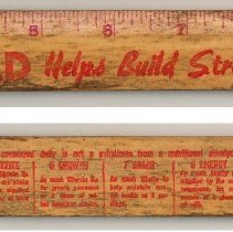 Image of front and back: Wonder Bread ruler