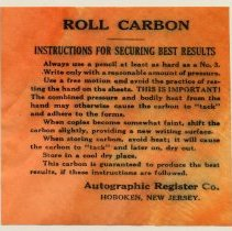 Image of inserted instruction sheet (from roll without exterior sealing label)