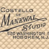 Image of detail of imprint: Costello of Manewal Studio