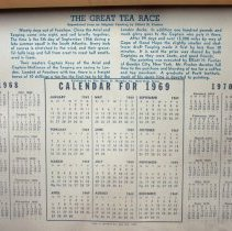Image of text under calendar leaf with description of painting