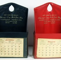 Image of Wall pockets with calendars imprinted: Schoning's City Hall Bake Shop
