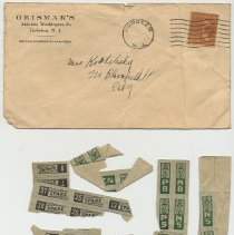 Image of Envelope from Geismar's, 222-224 Washington St., Hoboken, to Mrs. [Helen?] Kostelecky, 220 Bloomfield St., Hoboken. - Envelope