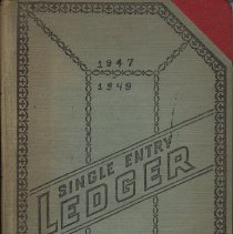 Image of Account book: Kostelecky Brothers Auto Repair, 218 Bloomfield St., Hoboken, 1947-1949. - Book, Account