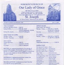 Image of Our Lady of Grace newsletter July 12, 2009 pg [1]