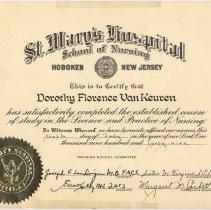 Image of diploma certificate: Dorothy Florence Van Keuren