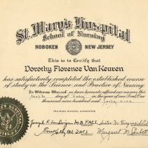 Image of diploma, retouched
