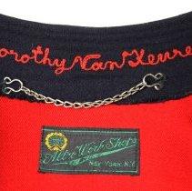 Image of detail Van Keuren embroidered name; maker's label
