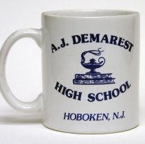 Image of Mug: A.J. Demarest High School, Hoboken, N.J. N.d., circa 1980s-2000. - Mug