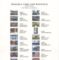 Image of Document: Hoboken Light and Geometry: Selections. Peter Ziebel. Checklist for HHM upper gallery exhibit, 2010. - Documents