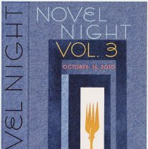 Image of Postcard: Novel Night. Volume Three. Save the Date! Saturday, October 15, 2010. - Postcard