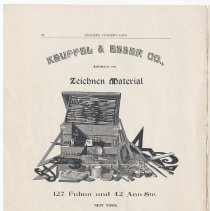 Image of pg 16: ad Keuffel & Esser Co, New York; Fabrik: Hoboken, N.J.