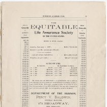 Image of pg 19: ad Equitable Life Assurance; J. Lichtenstein, 215 Washington St.