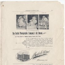 Image of pg 27: advertisements including view of Meyer's Hotel