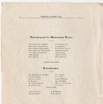 Image of pg 8: members Verwaltungsrath des Akademischen Vereins; Lehrerkollegium