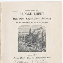 Image of pg 13: Ad George Ehret Hell Gate Lager Beer Brewery, N.Y.
