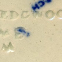 Image of detail Wedgwood mark and code (date) marks