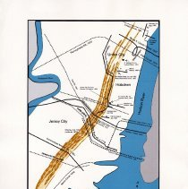 Image of 013 Fig 6 Hudson County transporation routes...Bergen Hill 1660s-1930s