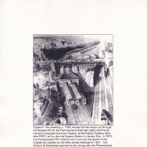 Image of 017 Fig 8 ca 1906 drawing railroad cuts through Bergen Hill