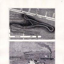 Image of 025 Fig 12 Old Hillside Road Trolley Horseshoe Curve, 1894