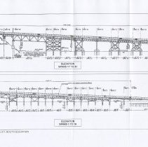Image of 008 Fig 3 14th St. Viaduct South Elevation; Spans 1 to 16, 17-31