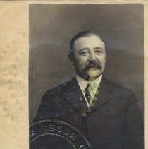 Image of detail photo of Willy G. Keuffel, president of K&E with 1889 corporate seal