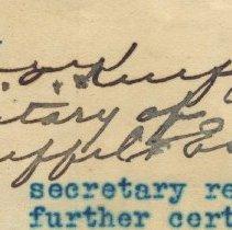 Image of detail W. L.E. Keuffel signature