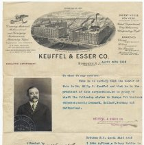 Image of Letter of introduction for Willy G. Keuffel, President, Keuffel & Esser Co., Hoboken, April 20, 1915. - Letter