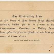 Image of enclosure: Invitation to commencement