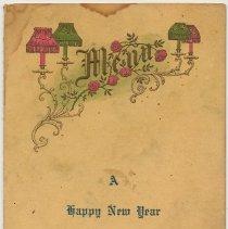 Image of Menu. A Happy New Year 1917. Duke's House, Hoboken, N.J. - Menu