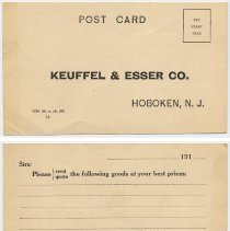 Image of postcard, front and back
