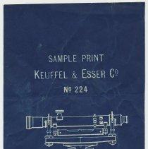 Image of blueprint sample: blue process paper