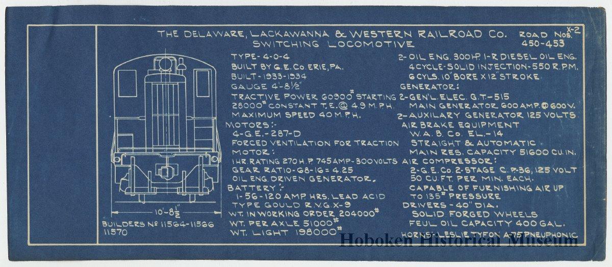 Diagrams  D L   U0026 W  Railroad  I R  600 H P  Oil Electric  Switching  Locomotive Type 4