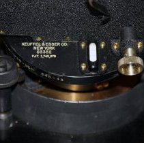 Image of detail right side: Keuffel & Esser markings with serial number 83352