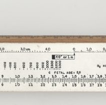 Image of Slide rule: Picker X-ray Fetal Medical, made by K&E Co., [Hoboken], n.d., ca. 1950s-1967. - Rule, Slide