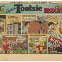 "Image of Ad, Tootsie Rolls, 2: ""Captain Tootsie"" comics published in Sunday comics section, April 3, 1950; June 18, 1950. - Ad, Newspaper"