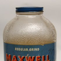Image of Maxwell House Coffee, Regular Grind, 2 lb jar, Hoboken et al, n.d, ca. 1945-1950. - Jar