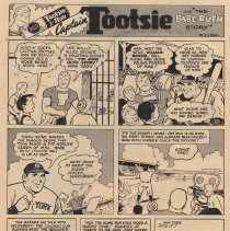 "Image of Ad, Tootsie Rolls: Captain Tootsie and ""The Babe Ruth Story."" The American Girl, Sept. 1948. - Ad, Magazine"